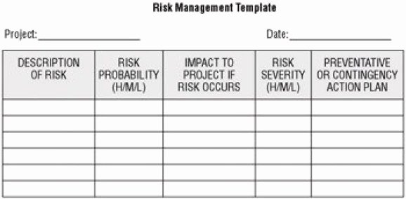 Risk Management Plan Template Pdf Best Of 6 Plan Templates Excel Pdf formats