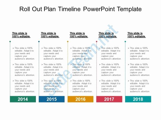 Roll Out Plan Template Unique Style Layered Horizontal 5 Piece Powerpoint