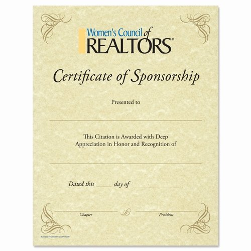 sponsorship appreciation certificate rotary blank certificate of sponsorship rotary club supplies