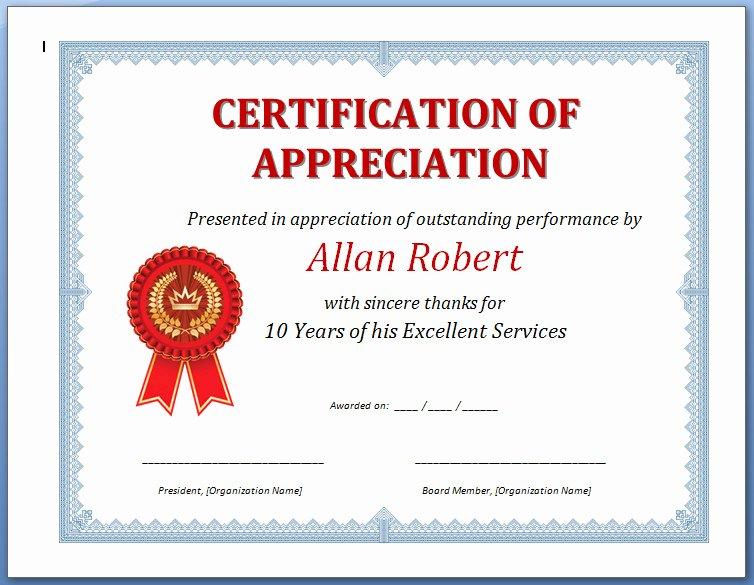 Rotary Certificate Of Appreciation Template Beautiful Discreetliasons