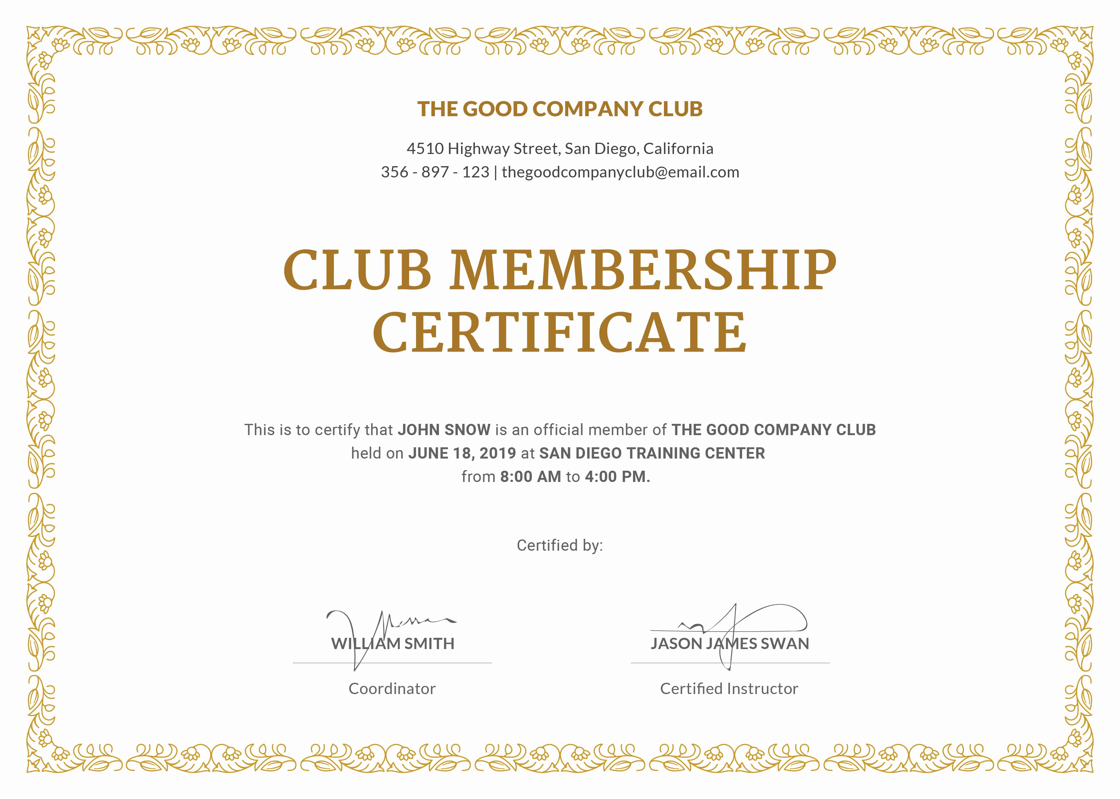 Rotary Certificate Of Appreciation Template Best Of New Member Certificate Template New Member Certificate