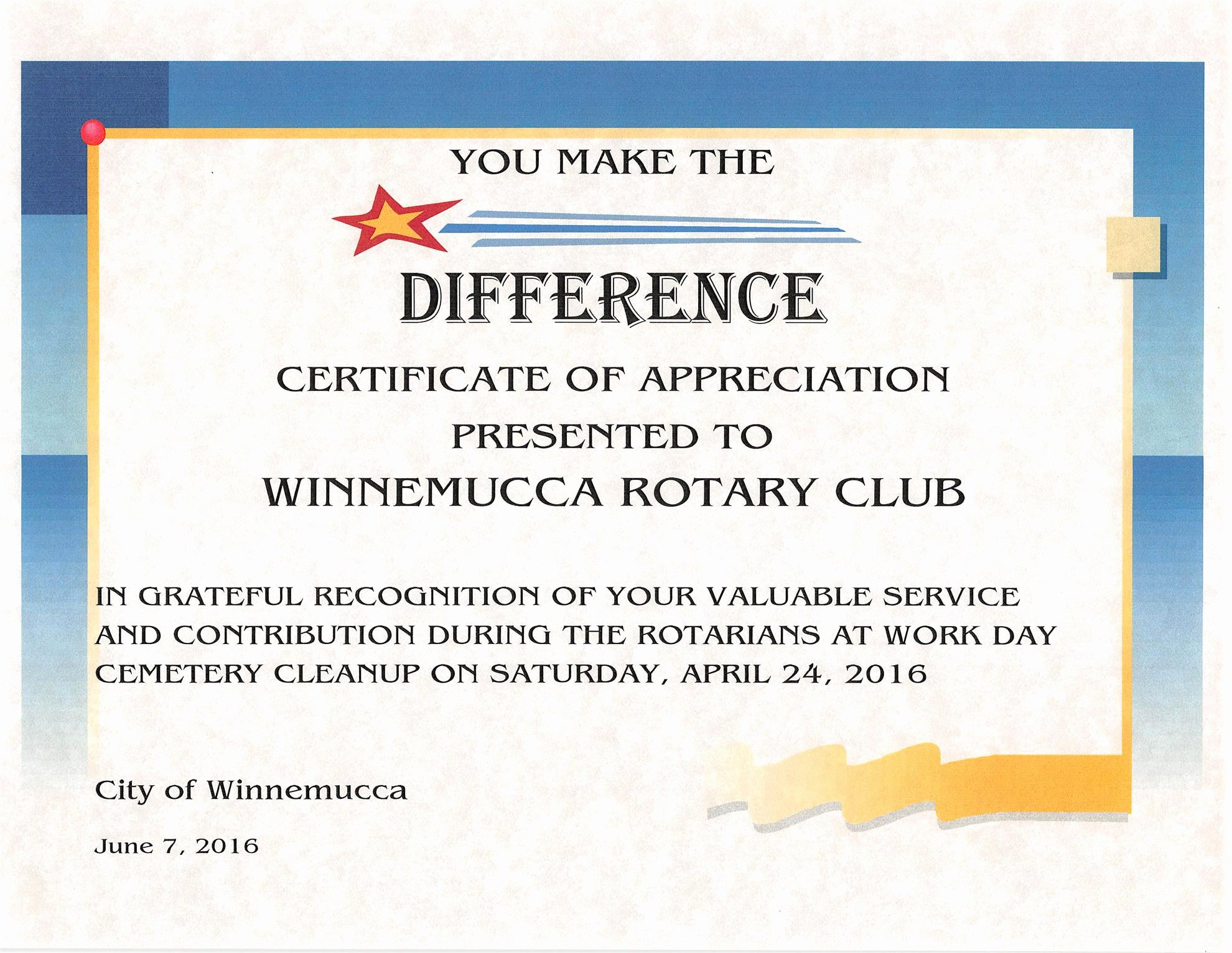 Rotary Certificate Of Appreciation Template Fresh Home Page