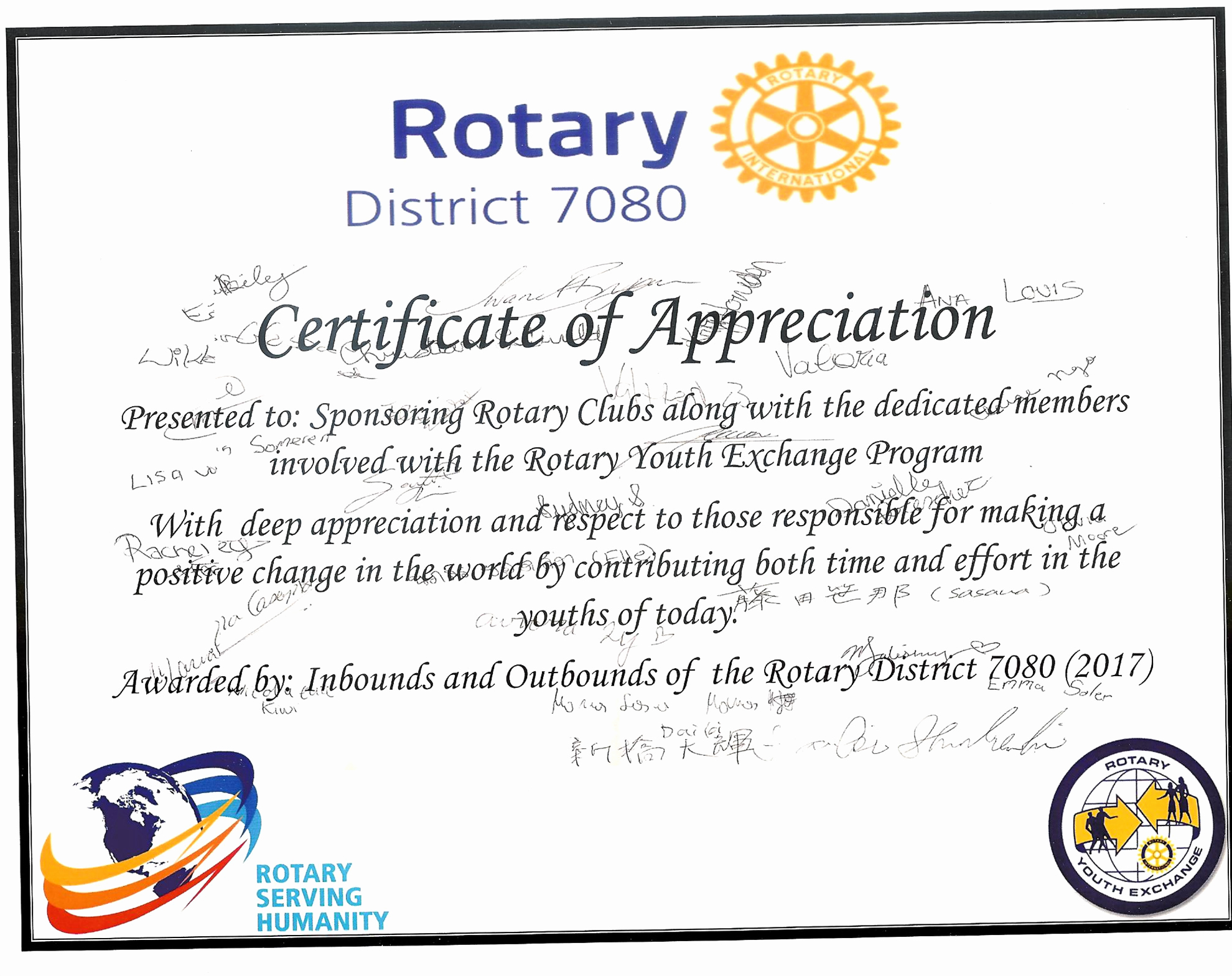 Rotary Certificate Of Appreciation Template Fresh Student Appreciation Certificate