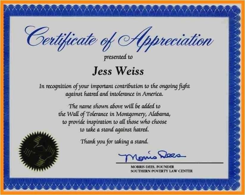 Rotary Certificate Of Appreciation Template Inspirational Discreetliasons