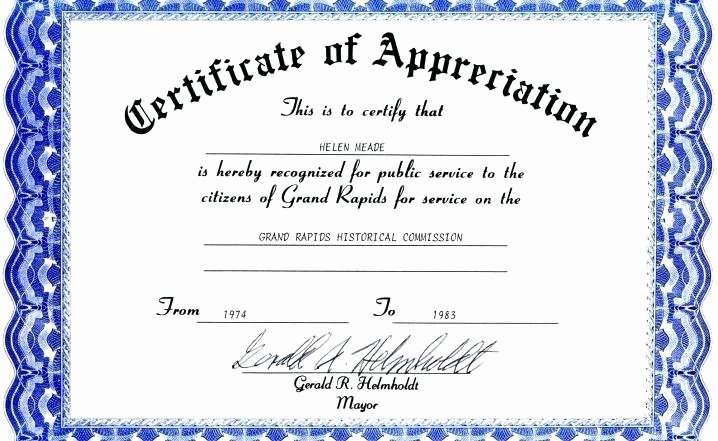 Rotary Certificate Of Appreciation Template Lovely Rotary Club Certificate Template Rotary Certificate