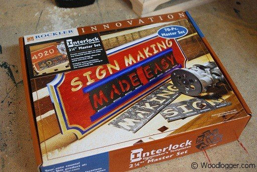 Router Letter Templates Lowes New Interlock Sign Making Kit by Rockler Review Woodlogger