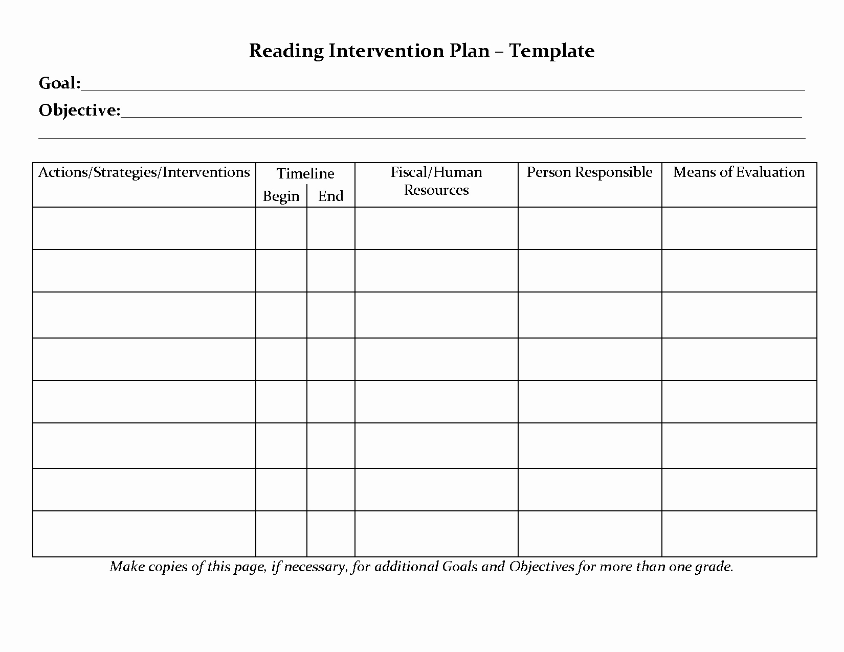 Rti Lesson Plan Template New Student Planner Templates