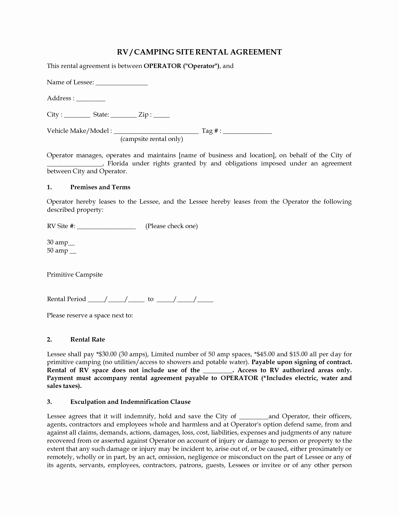 Rv Lease Purchase Agreement Unique 11 Best Of Pay Rate Agreement form Payment