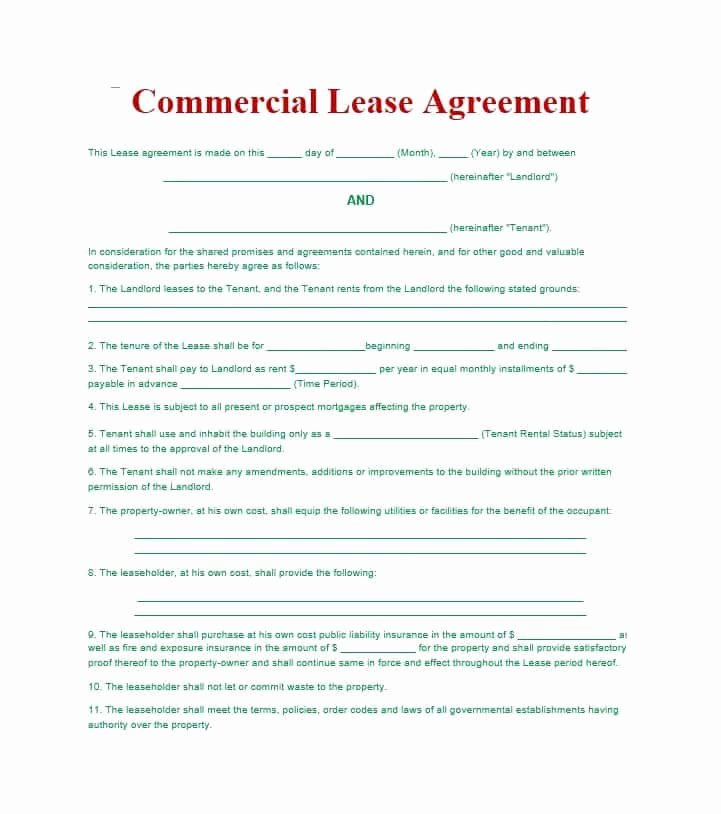 Rv Park Rental Agreement Awesome 26 Free Mercial Lease Agreement Templates Template Lab
