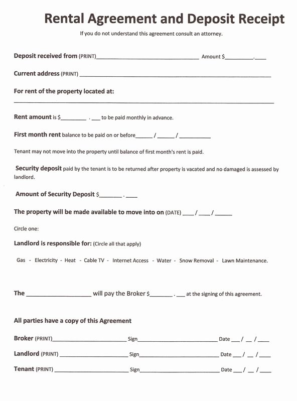 Rv Park Rental Agreement Fresh Free Rental forms to Print