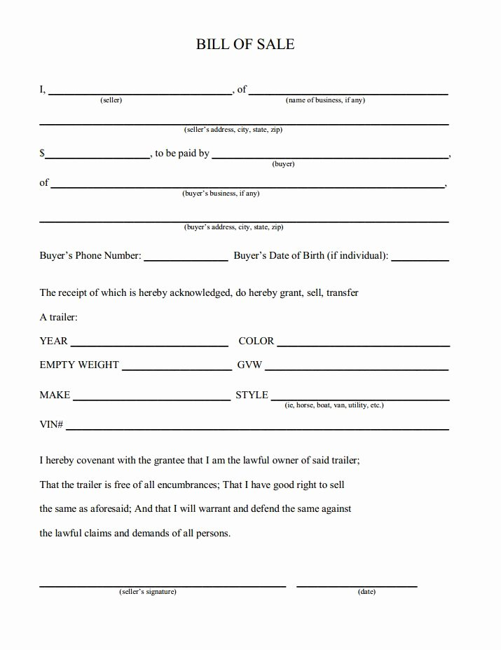 Rv Purchase Agreement Template Luxury Printable Sample Champer Bill Of Sale form