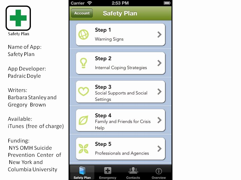 Safety Plan Template for Students Beautiful Safety Planning to Prevent Suicide