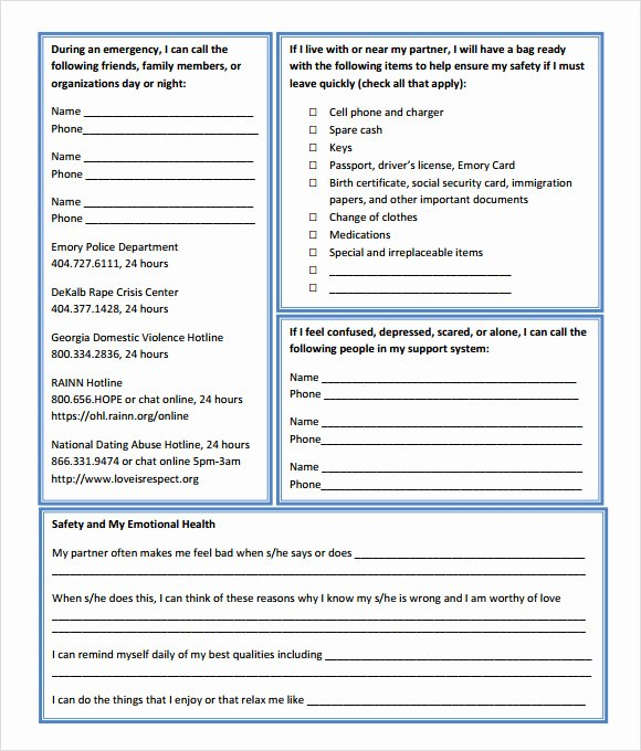Safety Plan Template for Students Best Of Site Specific Safety Plan Template