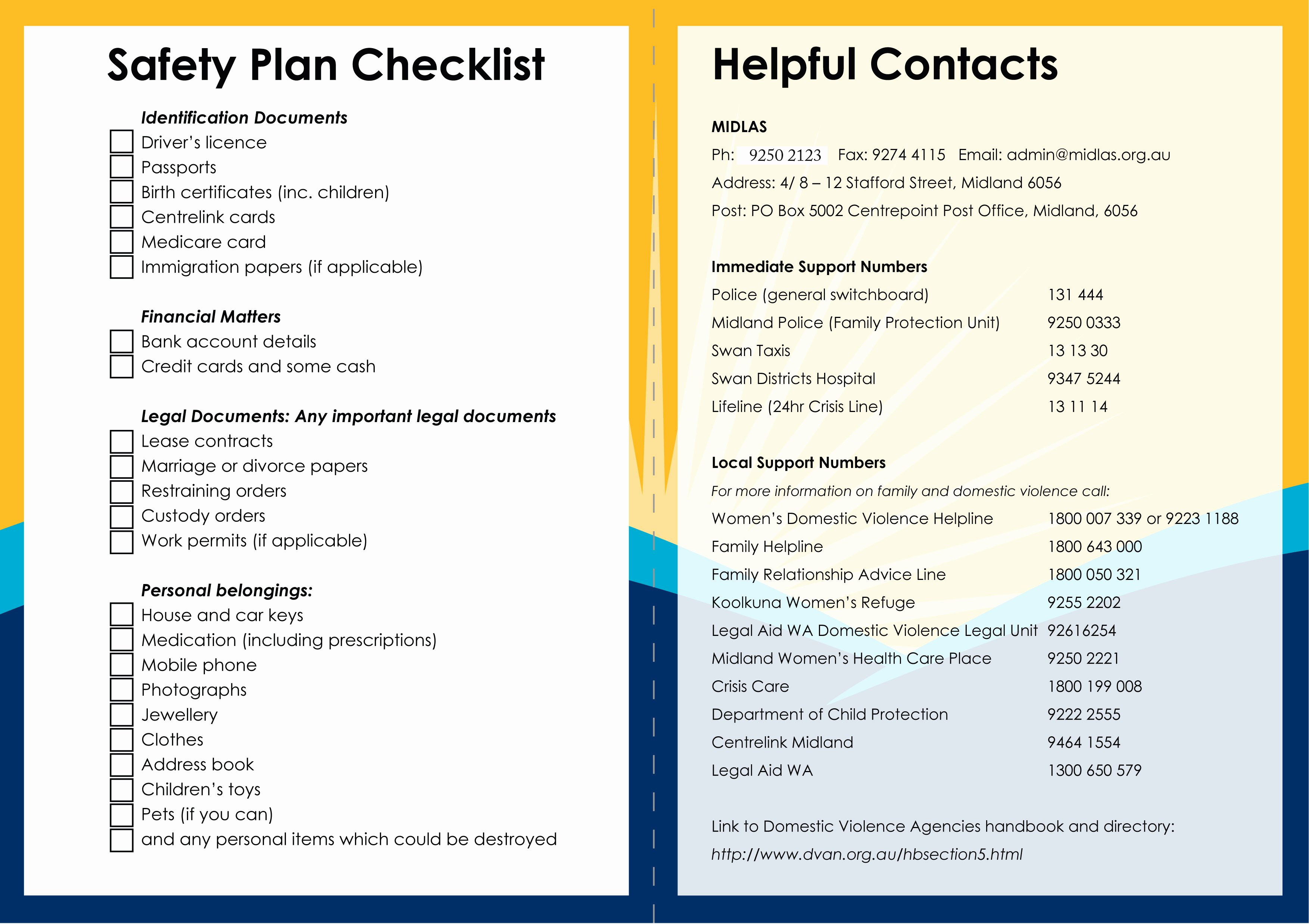 Safety Plan Template for Students Lovely Safety Plan Template