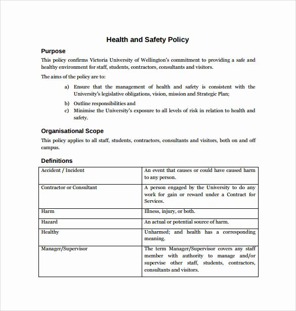 Safety Plan Template for Students New Free Safety Policy Examples Coloring Page for