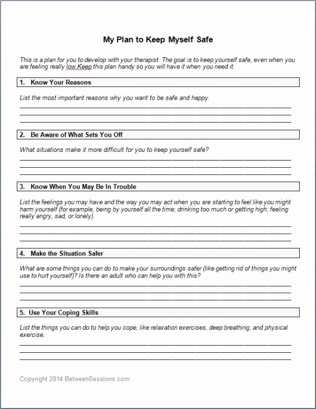 Safety Plan Template for Students New Site Specific Safety Plan Template