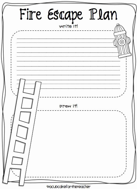 Safety Plan Template for Youth Lovely A Cupcake for the Teacher Fire Safety Plus A Freebie
