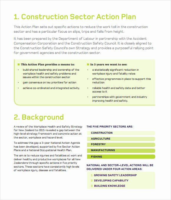 Safety Plan Template for Youth Luxury Gallery Construction Safety Programs Free Downloads