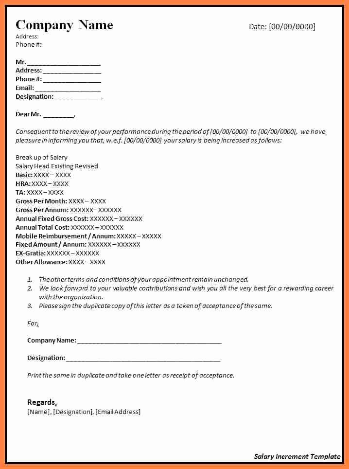 Salary Increase Letter format Best Of 9 Salary Increase Letter Sample for Employees