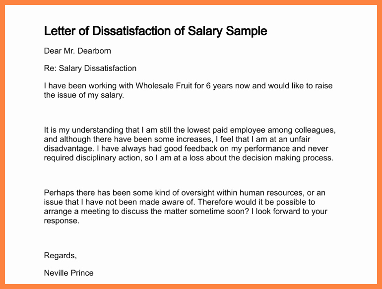 Salary Increase Letter format Fresh 7 Example Salary Increase Letter