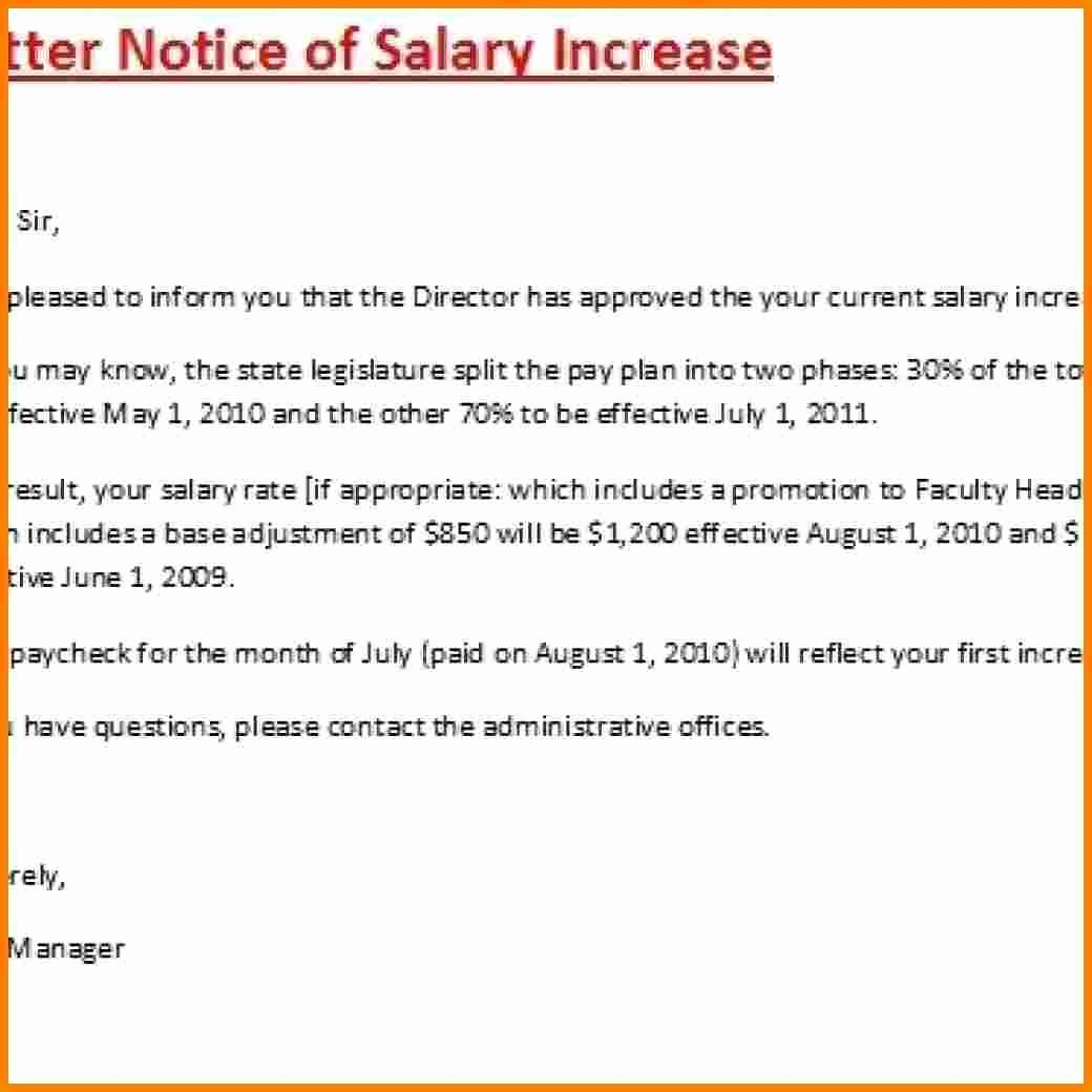 Salary Increase Letter format Inspirational 12 Salary Increase Proposal Template
