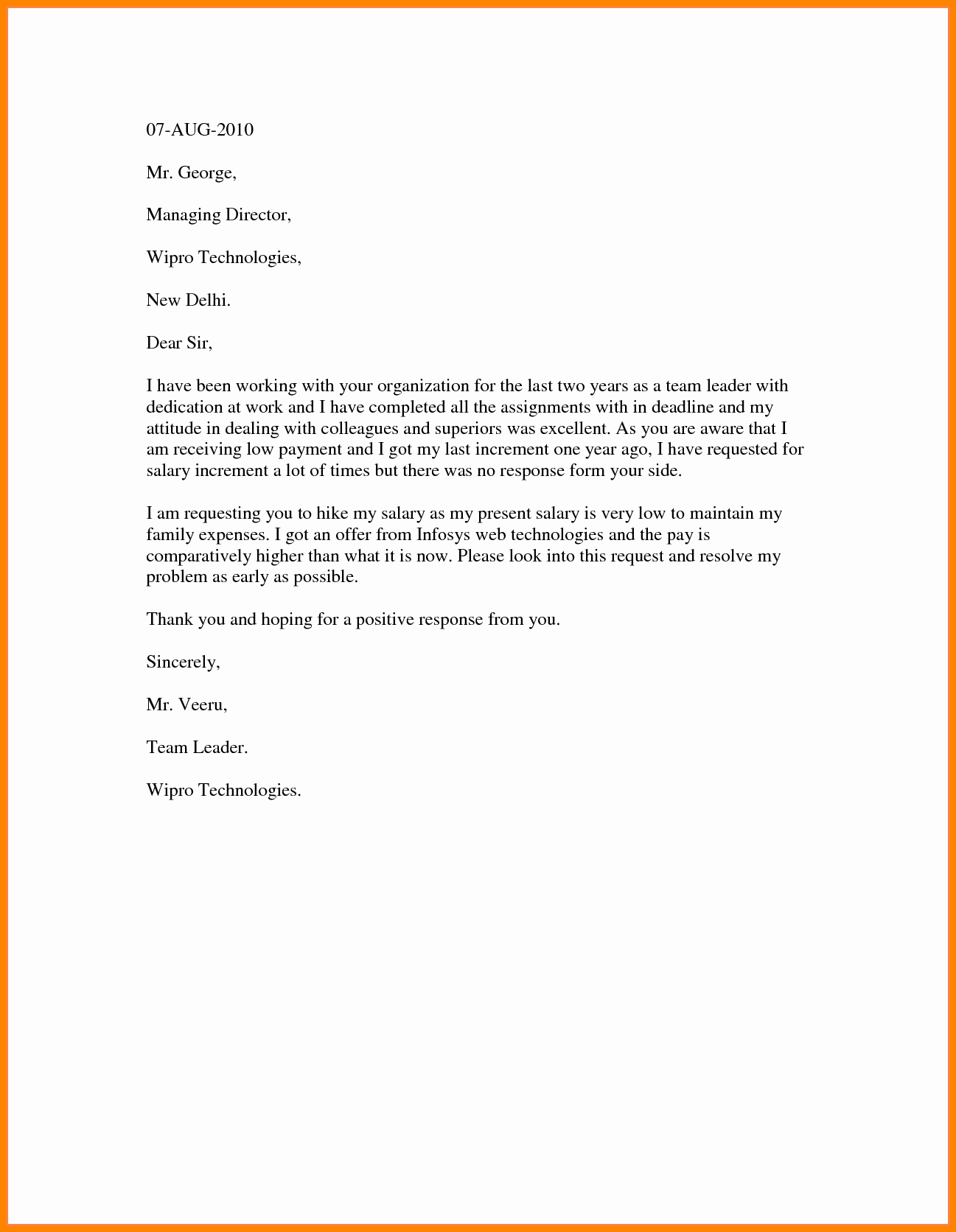 Salary Increase Letter format Inspirational 5 Template Letter Requesting Salary Increase