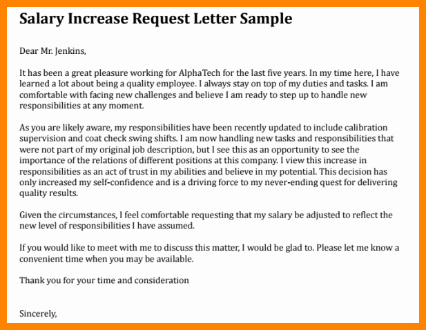 Salary Increase Letter format Inspirational 8 Sample Letter Requesting Salary Increase