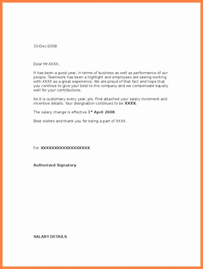 Salary Increase Letter format Lovely Best Salary Increase Letter Samples with Perfect Wording