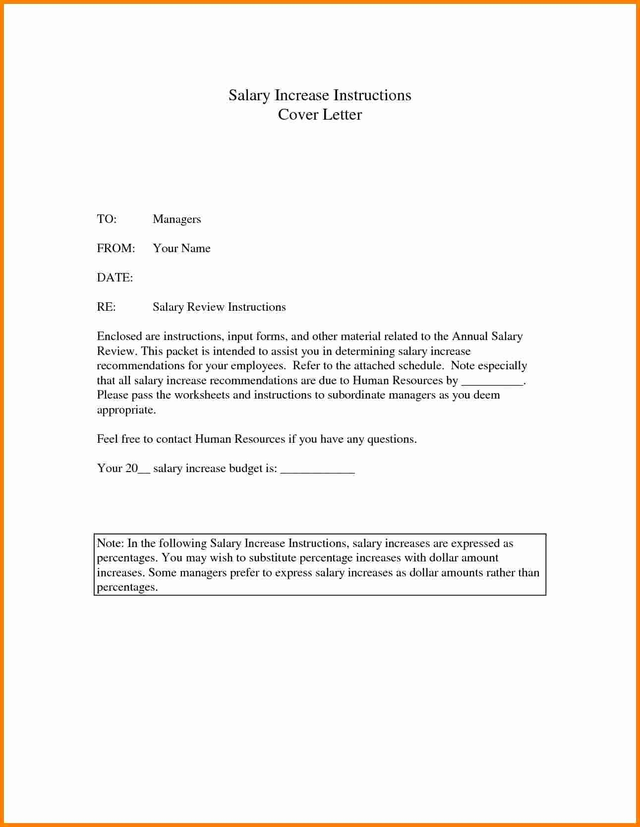 Salary Increase Letter format New 5 Template Letter Requesting Salary Increase