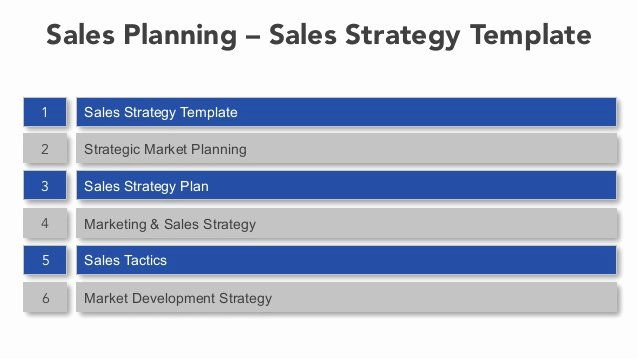 Sales Account Plan Template Lovely Sales Planning Sales Strategy Template