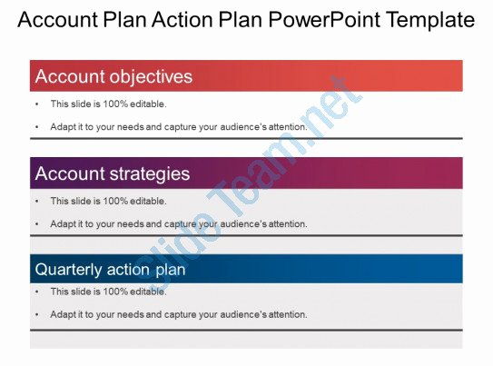 Sales Account Plan Template New Style Layered Vertical 3 Piece Powerpoint