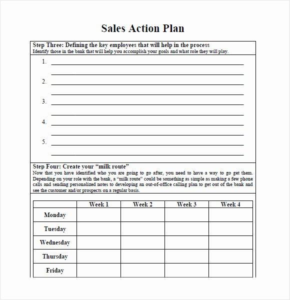 Sales Action Plan Template Inspirational 10 Sales Plan Samples