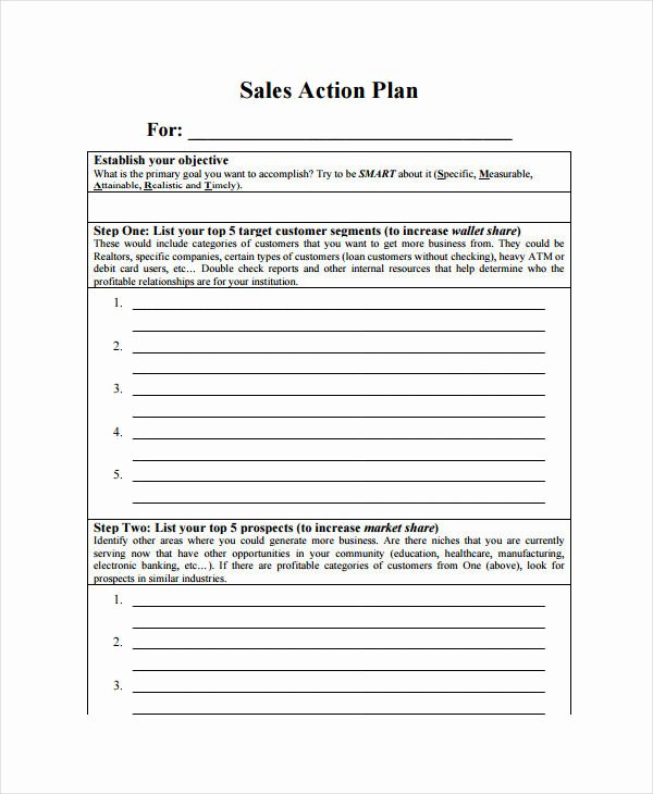 Sales Action Plan Template Luxury 11 Monthly Sales Plan Templates Sample Example format