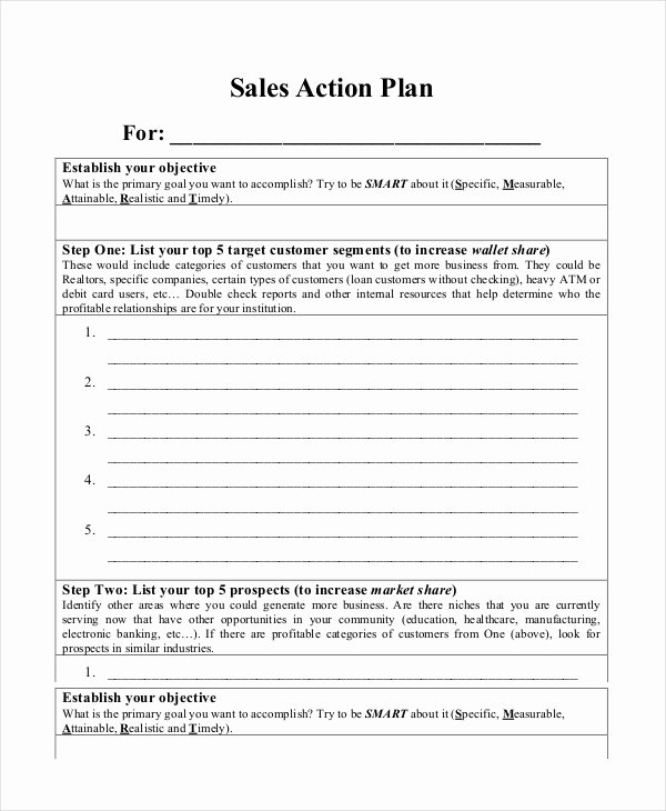 Sales Action Plan Template Luxury Action Plan Templates 9 Free Word Pdf Documents