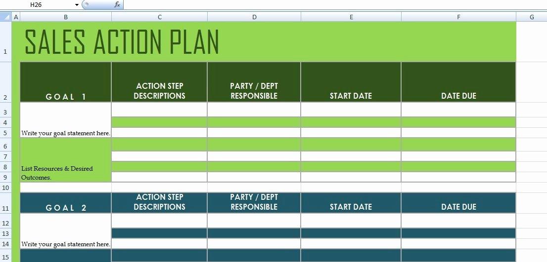 Sales Action Plan Template Unique Get Sales Action Plan Template Xls