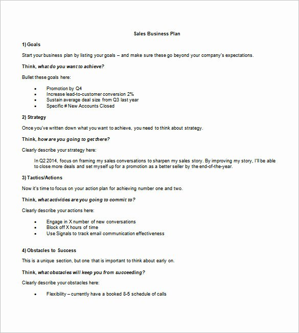 Sales Business Plan Template Best Of Business Plan Template – 97 Free Word Excel Pdf Psd