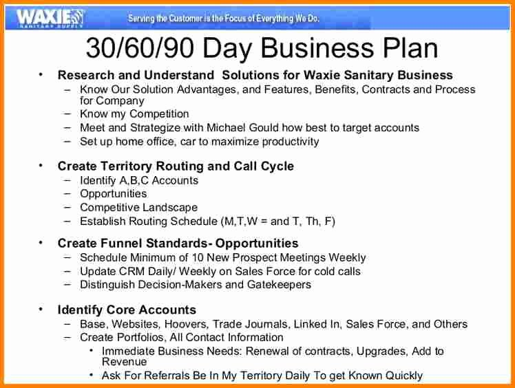 Sales Business Plan Template Elegant 13 90 Day Sales Plan Template