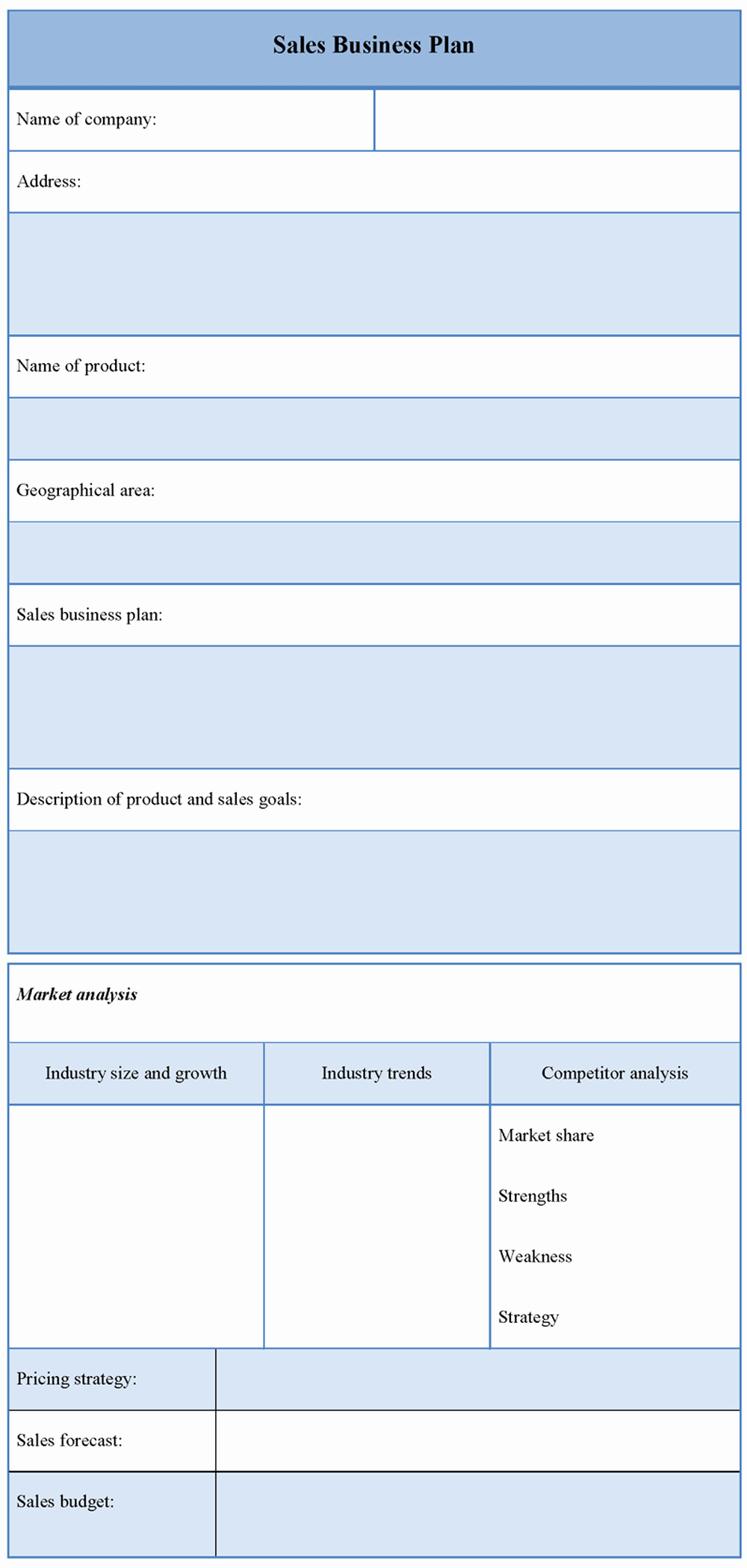 Sales Business Plan Template Fresh Plan Template for Sales Business Sample Of Sales Business
