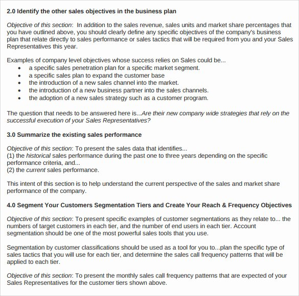 Sales Business Plan Template Fresh Sample Sales Plan Template 17 Free Documents In Pdf