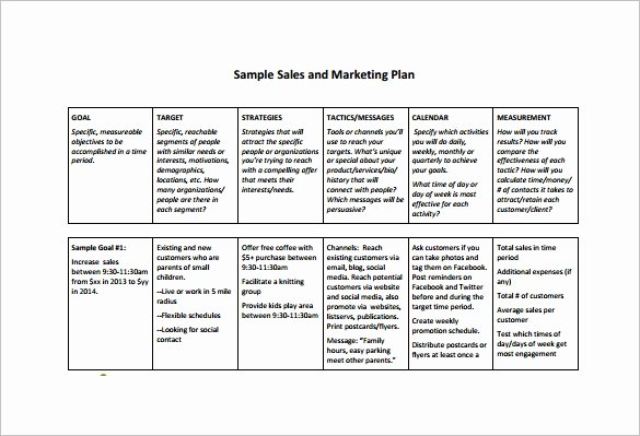 Sales Business Plan Template New 7 Sales Plan Template Pdf Doc