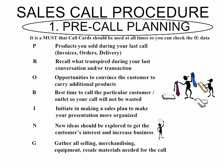 Sales Call Plan Template Unique Pre Call Planning Template Sales Call Template Report