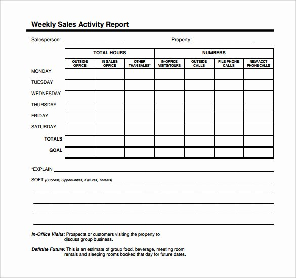 Sales Calling Plan Template New 14 Sales Call Report Samples