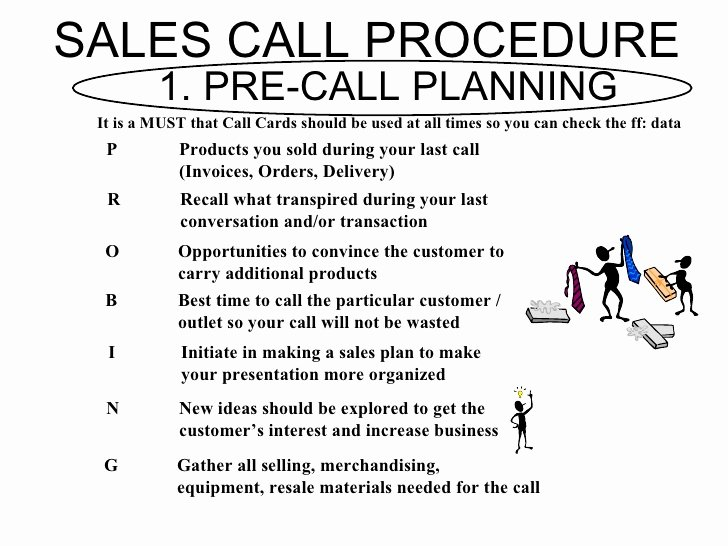Sales Calling Plan Template New Fmcg Training Modules Bfg