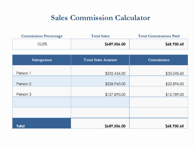 Sales Compensation Plan Template Best Of Sales Mission Calculator