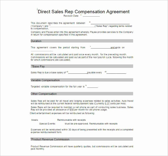 Sales Compensation Plan Template Excel Lovely 10 Pensation Plan Template Free Word Pdf Documents