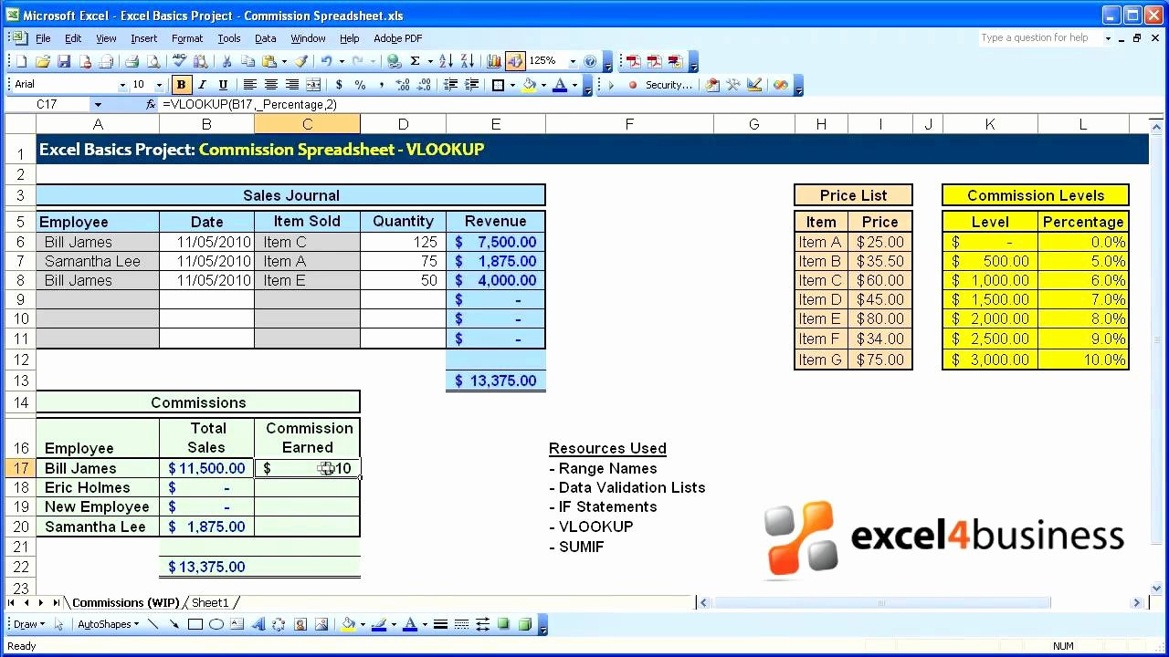 Sales Compensation Plan Template Excel Luxury Excel Basics 020 Project Mission Spreadsheet