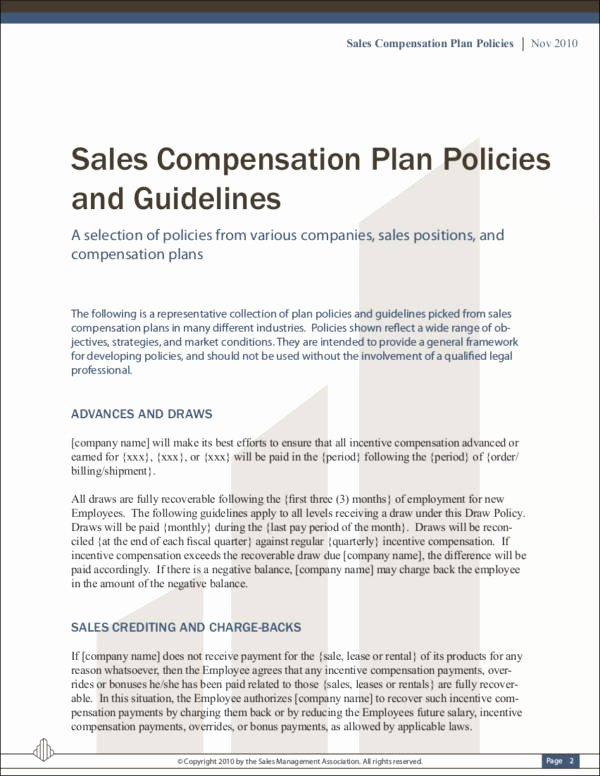 Sales Compensation Plan Template New 9 Sales Mission Policy Samples & Templates