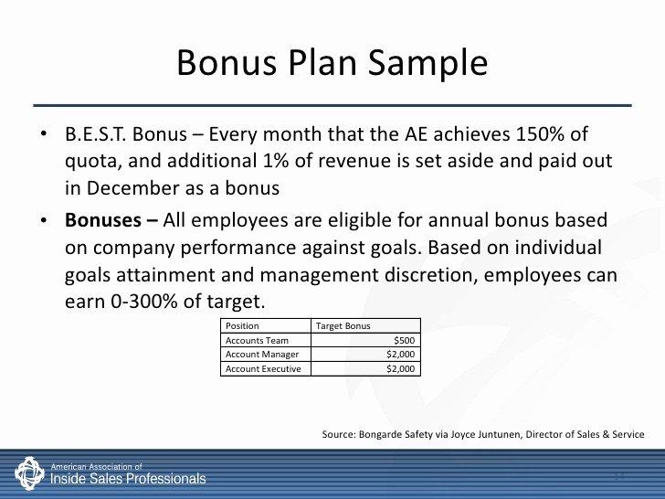 Sales Compensation Plan Template New Inside Sales Pensation & Incentives Best Practices