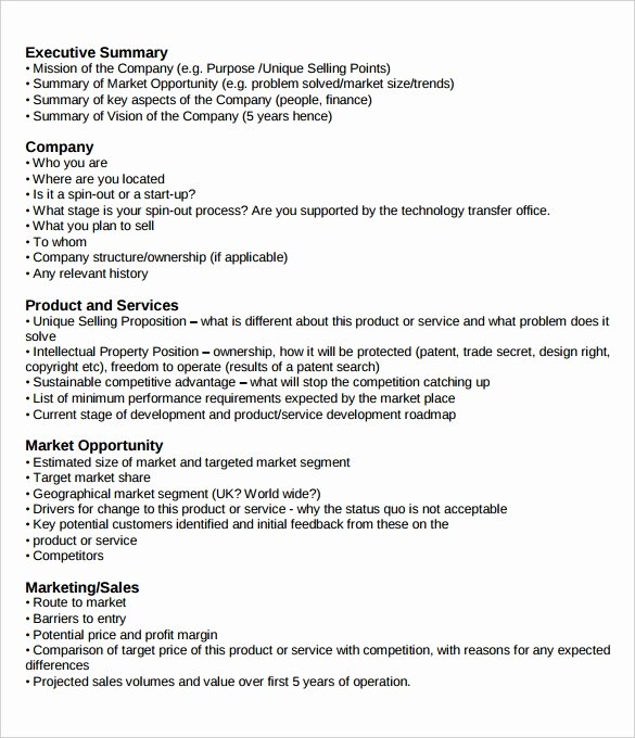 Sales Manager Business Plan Template Unique 31 Executive Summary Templates Free Sample Example