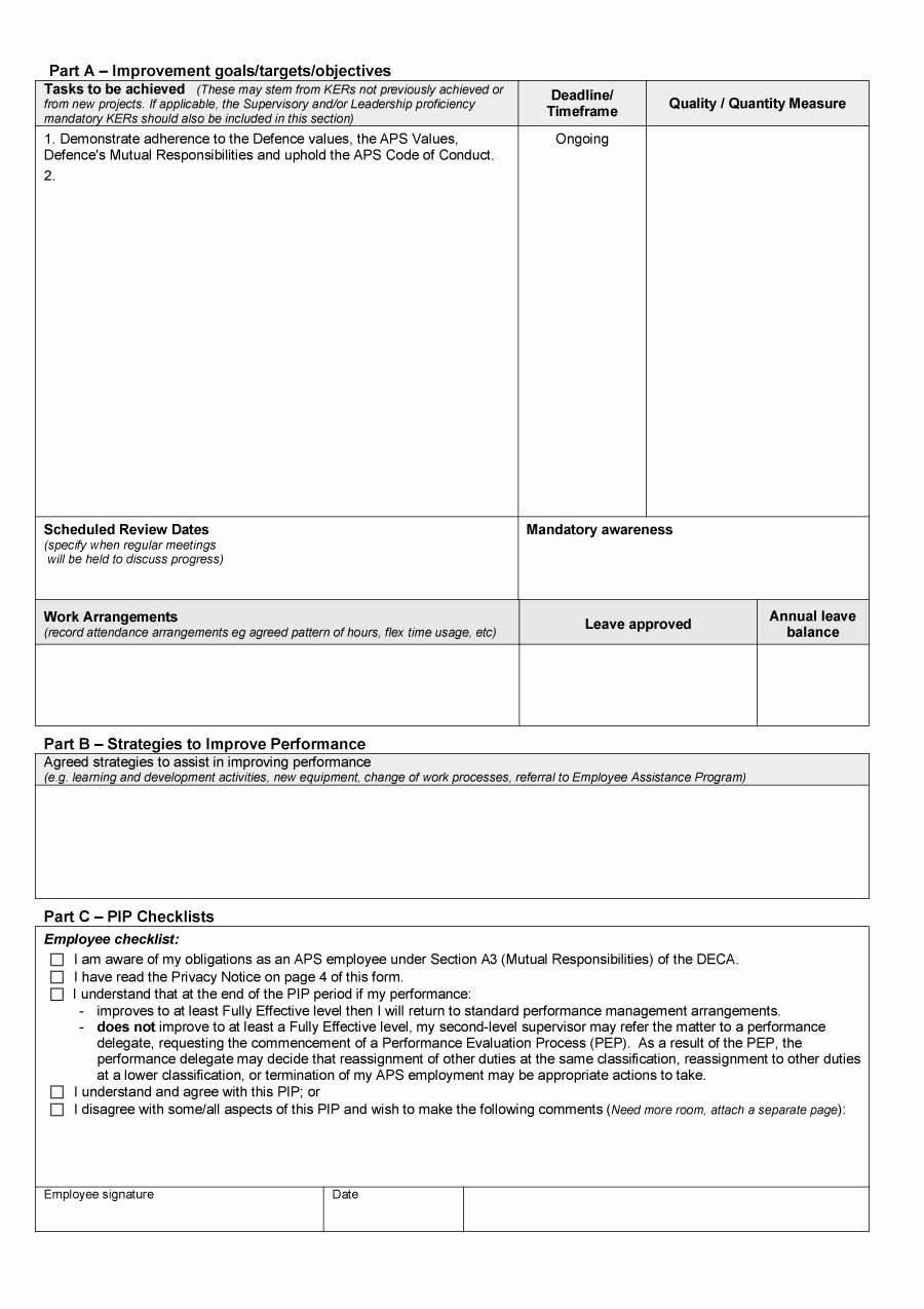 Sales Performance Improvement Plan Template Inspirational 41 Free Performance Improvement Plan Templates & Examples